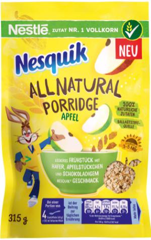 NESQUIK Porridge allnatural Apfel