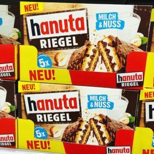 Hanuta Riegel Milch & Nuss