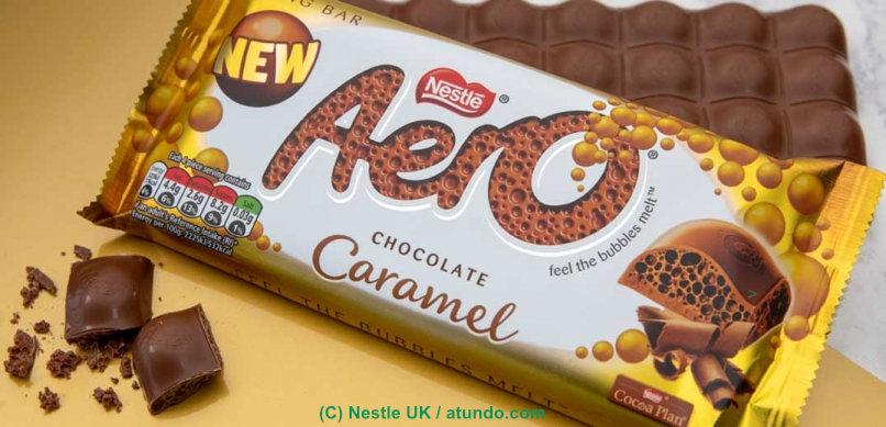 Aero Schokolade Caramel in 100g Tafel