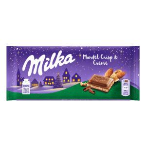 Milka Mandel Crisp & Creme 100g Weihnachten 2020