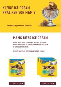 m&m ICE CREAM BITES