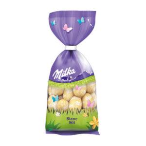 Milka Schokoladen Eier Ostern 2021 Blanc Wit