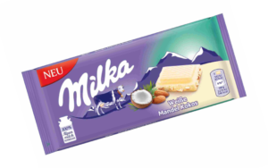 Milka Weiße Mandel Kokos Schokoladentafel 90g 7622201776008