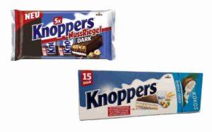 Knoppers Kokos Sommer Edition & Nuss Riegel Dark 2021