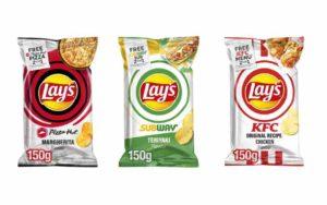 lays chips iconic restaurant kfc pizza hut subway