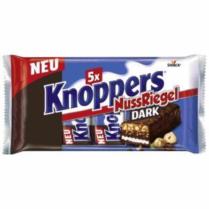 Knoppers Riegel Dark 5x40g Packung Nuss Zartbitter Zart