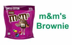 m&m's brownie stückchen schokolade