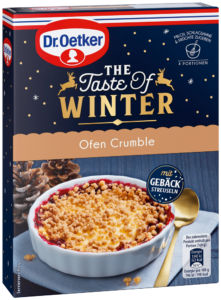 The Taste Of Winter Ofen Crumble