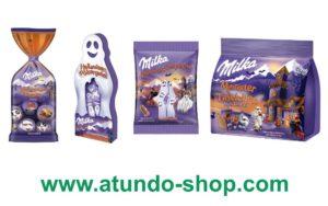 Gruselige Milka Halloween Artikel 2021 Poltergeist gespenster monster täfelchen tafel