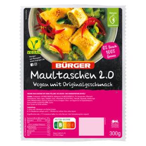 Bürger Maultaschen 2.0 Vegan mit Originalgeschmack